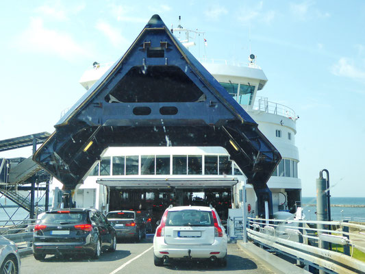 Loading of cars on the ferry route Rødby - Puttgarden