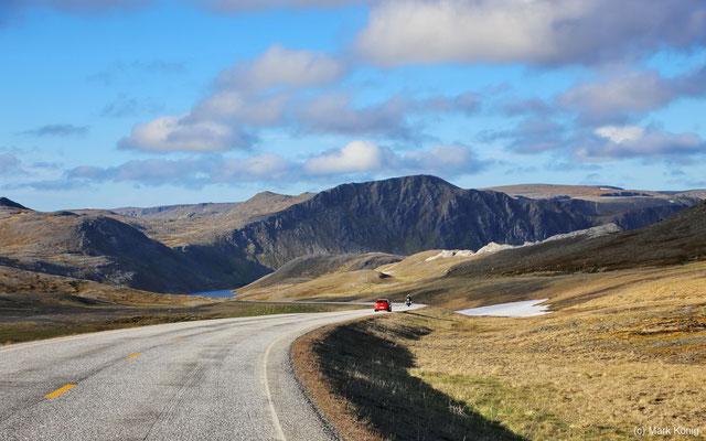 Europastraße E69 auf Magerøya nahe Nordkap (Mitte Juni 2016)
