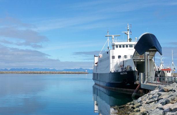 Die Fähre Andenes - Gryllefjord (Senja) ist etwas hochseetauglicher für Küstenfahrt im offenen Meer