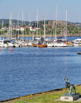 The guest harbour of Kristiansand from a distance