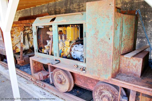 A rusty mining train