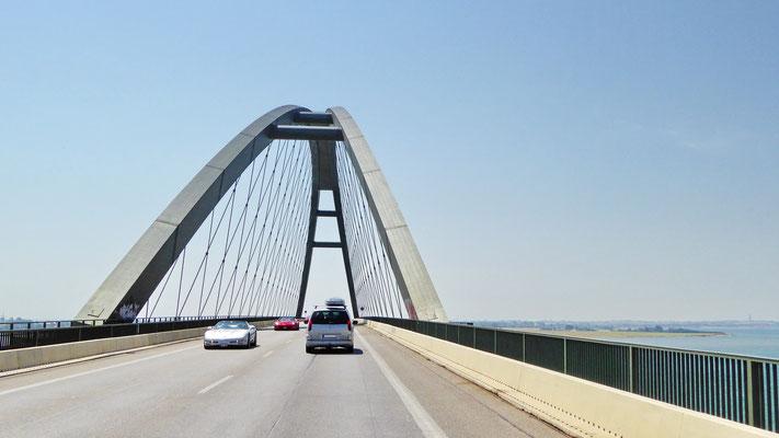 Die Fehmarnsundbrücke ist Teil der E47 in Deutschland