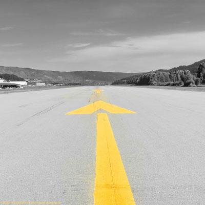 On the runway of Notodden airport.