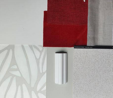 Planche matériaux Isabelle Mourcely-Décoration