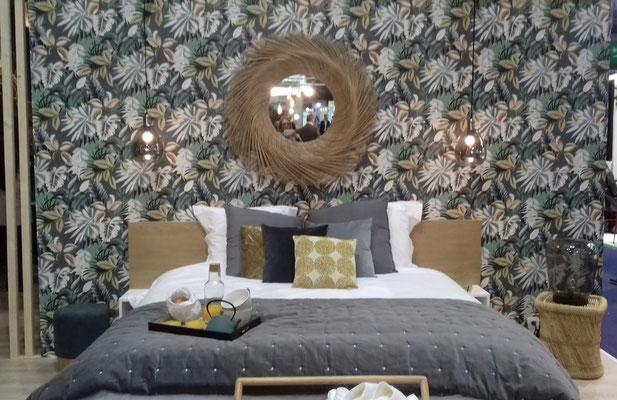 chambre Maison du Monde,  Isabelle Mourcely décoratrice UFDI, Tours-Chinon, Centre Indre et Loire 37