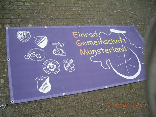Werbeplane Einrad Münsterland