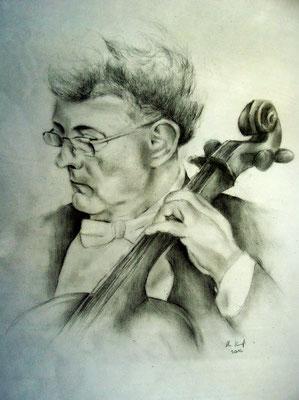 Personenportrait mit Bleistift gezeichnet