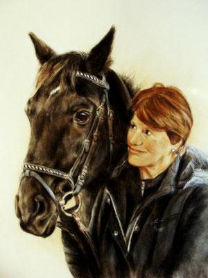Personenportrait mit Tier