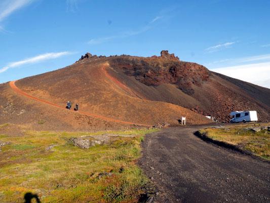 Le cratère de Saxholl à l'ouest