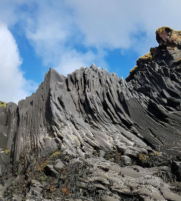 Dépôts volcaniques plissés