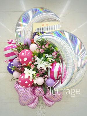 バルーンと生花のスタンド花 20000円(税込)