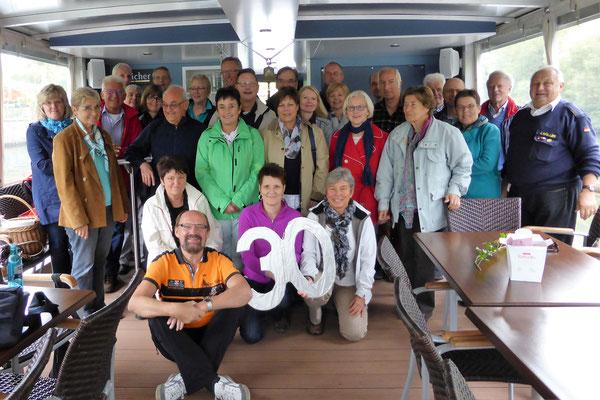 Bootsfahrt anlässlich des 30-jährigen Jubiläums