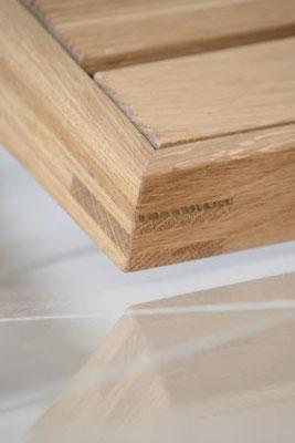 Schreinerei Hopfmann Holz Schmankerl Bichl Detail der Eckverbindung