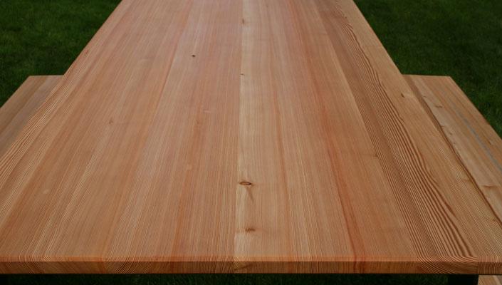 Schreinerei Hopfmann Holz Schmankerl Bichl Oberflächen sind mit speziellem UV Schutz Öl behandelt