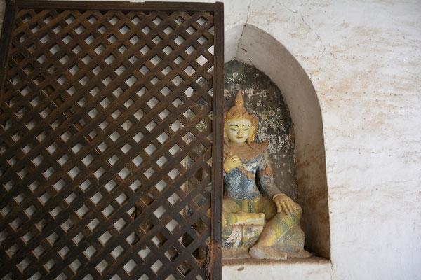 Verborgene Gottheit im Ananda-Tempel in Bagan