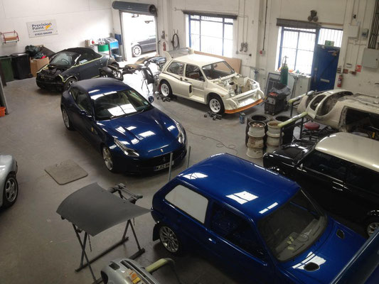Our Workshop Full of Cars we are Working On | Precision Paint | Wellington | Somerset