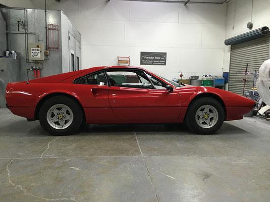 Red Ferrari Full Body respray | Precision paint Wellington