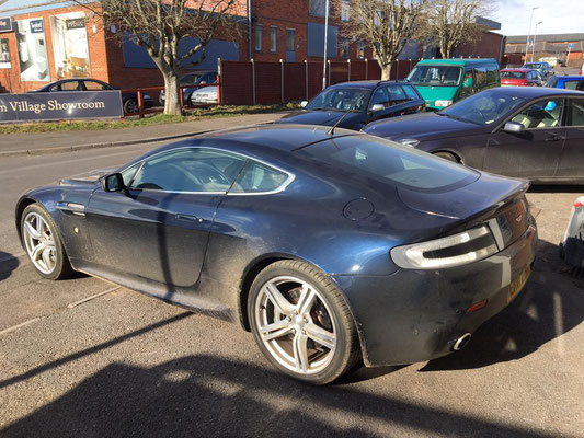 Aston Martin V8 Vantage Before Body Work Carried out by Precision Paint Wellington