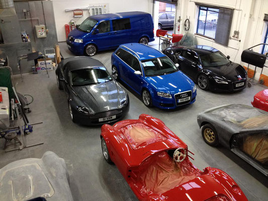 Our Busy Workshop Full of Cars | Precision Paint | Wellington | Somerset