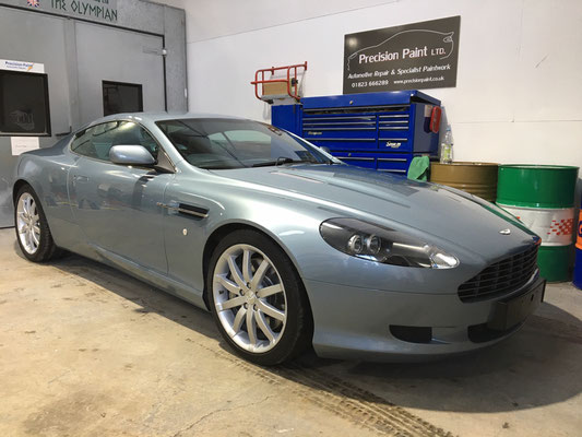 Aston Martin DB9 - Finished work by Precision Paint Wellington, Somerset