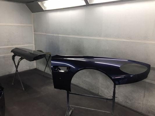 Early 2006 Aston Martin V8 Vantage Full Exterior Respray Work In progress