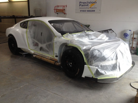 Bentley Body Paint Rework Before Racing Season Work In Progress | Precision Paint Wellington