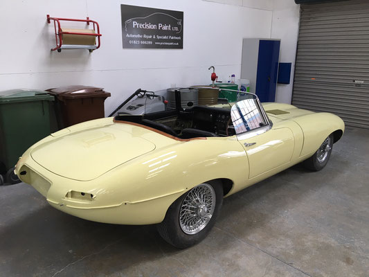 Jaguar E-Type Full Body Respray | Work In Progress | Precision Paint Wellington
