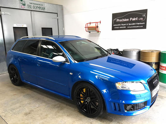 Front Side | Audi RS4 Customisation and Light Damage Body Repairs | Precision Paint | Wellington | Somerset