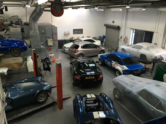 Workshop Full of Cars | Precision Paint | Wellington | Somerset