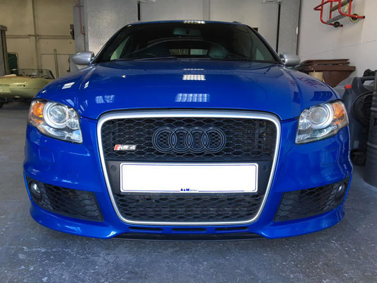 Audi RS4 Front View Before Light Damage Repair & Customisation | Precision Paint | Wellington Somerset