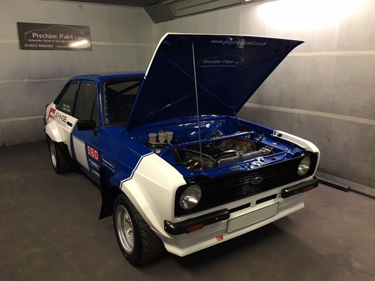 Ford Escort Mk2 Rally Car Tidy Up at End of Season | Precision Paint | Wellington Somerset