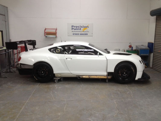 Bentley Body Paint Rework Before Racing Season Finished | Precision Paint Wellington