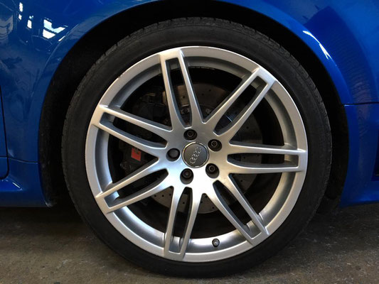 Audi RS4 Alloys Before Customisation | Precision Paint | Wellington Somerset