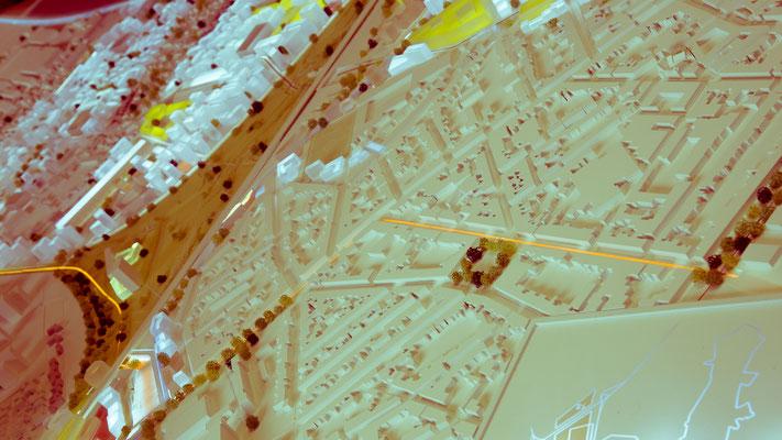 BORDEAUX EURATLANTIQUE - Projet: Aménagement du quartier Garonne-Eiffel - Echelle 1/1000ème     (en collaboration avec L. Salomé)