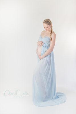 2 Babybauchkleid hellblau