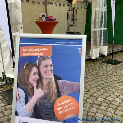Die Fotobox biem Volksbank Stand