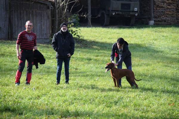 Jürg, Aurelio und Nicole mit Kimani
