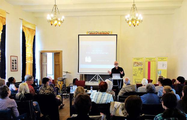 Prof. Dr. Hans Werner Fischer-Elfert hält den Festvortrag im Juli 2016. Foto: Jennifer Peppler