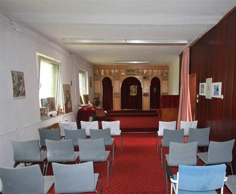 Vorläufige Kirche für Gottesdienste. Borgentreich 2014. Foto: Dieter Obermeyer