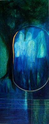 Drei Engel im Mamre. Malerei: Jutta Schlier. Foto: www.jutta-schlier.de