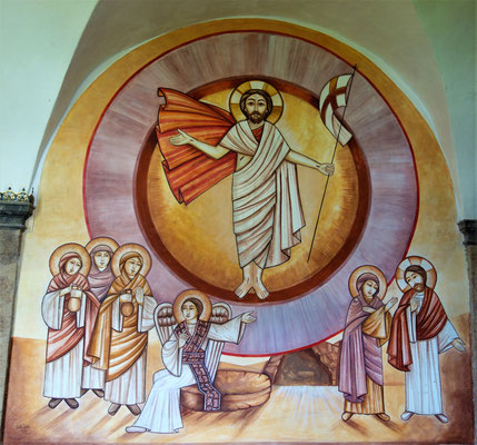 Die Auferstehung Jesu Christi. Malerei: Dalia Sobhi. Foto: Jennifer Peppler