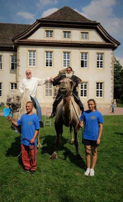 ... Gemeinsam mit dem Ägyptologen Prof. Dr. Rainer Hannig. Foto: Jennifer Peppler