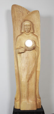 """Antiparastasis (Gegenüberstellung)"", Lindenholz 2007, Höhe 181 cm. Foto: Ulrich Sprengel"