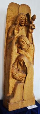 """""""Die Heilige Familie und der Friedensengel"""", Pappelholz 1995, Höhe 180cm. Foto: Jennifer Peppler"""