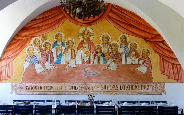 Das letzte Abendmahl: Jesus und seine zwölf Jünger. Malerei: Malerei: Dr. René Stephan 2001. Foto: Jennifer Peppler