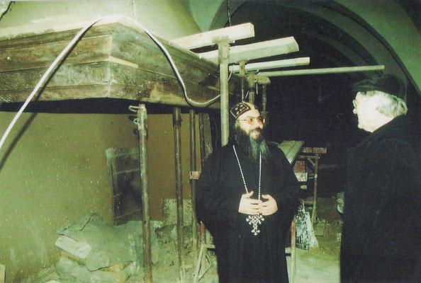 S.E. Bischof Anba Damian und Architekt Herr Nagel