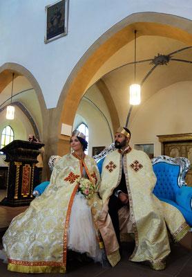 Koptische Hochzeit in der kath. Pfarrkirche im Juli 2017. Foto: Jennifer Peppler