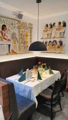 Inneneinrichtung des St. Markus Restaurants. Malereien: Daniela Rutica