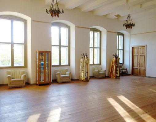 Der große Tagungsraum und Festsaal im Obergeschoss des Westflügels. Foto: Jennifer Peppler