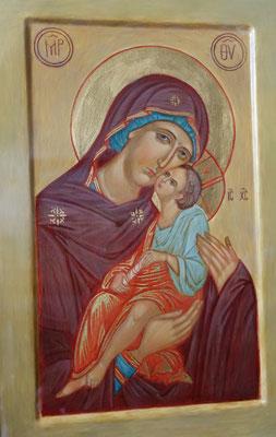 Ikone mit der Hl. Jungfrau Maria und Jesus Christus. Foto: Jennifer Peppler